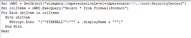 Script checking for firewall